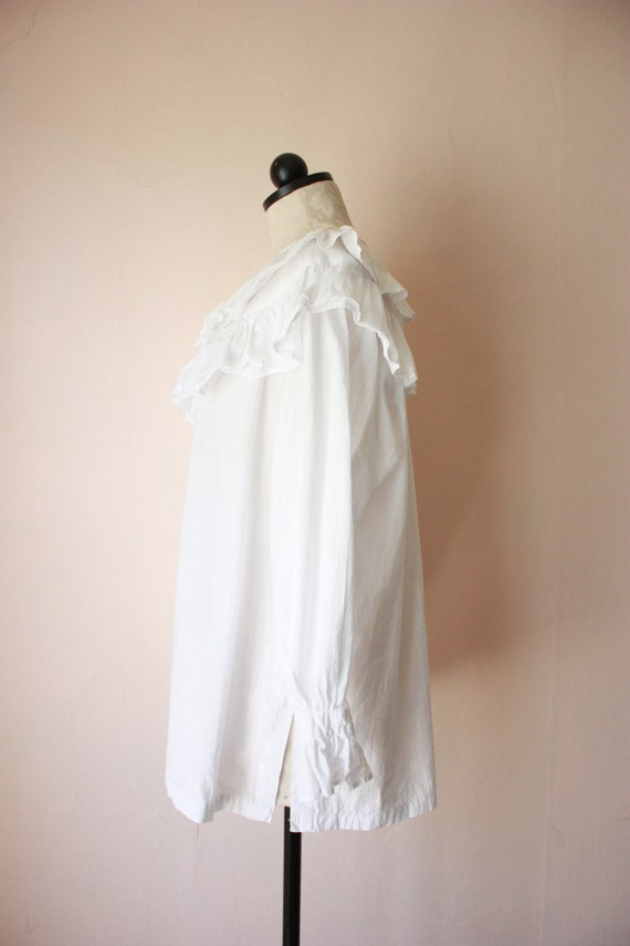 80s Deadstock Michel Ruffled Blouse Victorian Cot… - image 6