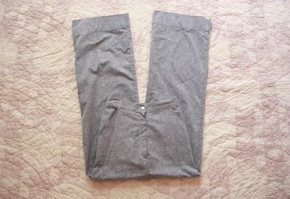 70s Chambray Bell Bottom Pants Size XXS / XS
