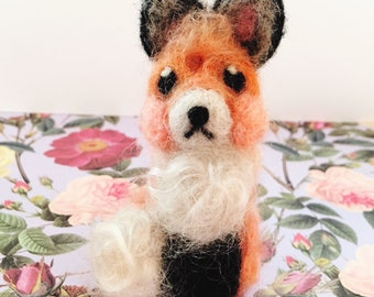 Needle Felted Fox Soft Sculpture Small Woodland Animal Freckles Gift