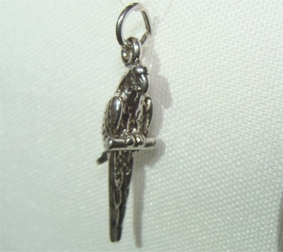 STERLING SILVER THREE DIMENSIONAL APACHE STYLE HELICOPTER CHARM PENDANT