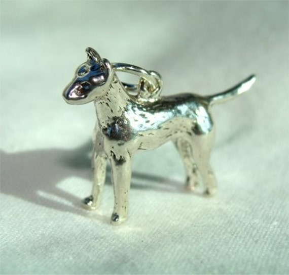 Made in USA 18 Italian Box Chain Sterling Silver BOSTON TERRIER DOG 3D Solid Pendant