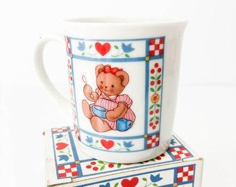 Vintage Curzon Child/'s Bowl /& Mug Set Made in Japan Teddy Bear ABC/'s