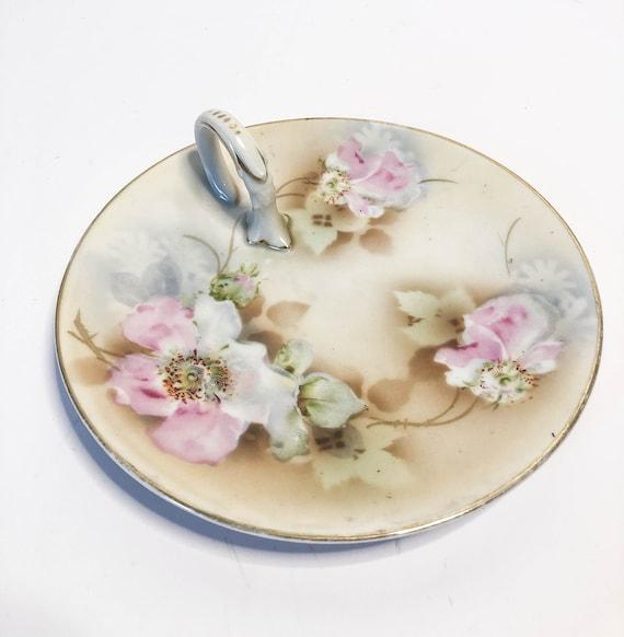 Vintage Bavaria Clover and Roses Bonbon Dish E396