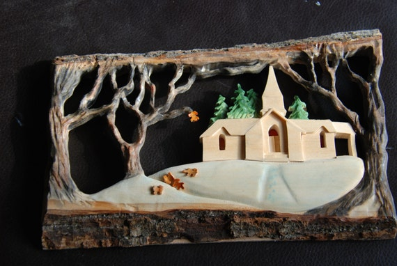 Scroll Cut Juddville Door County Country Church Winter Etsy