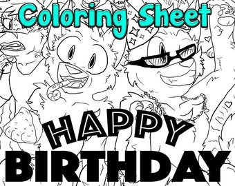 Happy Birthday! - Warriors: Truth or Dare - Downloadable Coloring Sheet