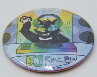 DJ Ravepaw - Ravenpaw: Truth or Dare - Warrior Cats 2.25 in Magnet
