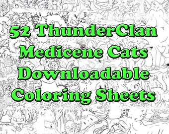 All 52 ThunderClan Medicine Cats Downloadable Warrior Cats Coloring Sheets