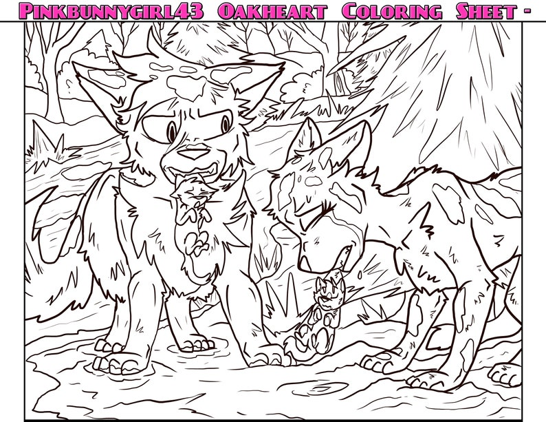 16 RiverClan Deputy Downloadable Warrior Cats Coloring Sheets Etsy