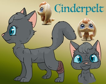 PRE-ORDER Cinderpelt Warrior Cats LPS Clay Custom Bobble Head Figure