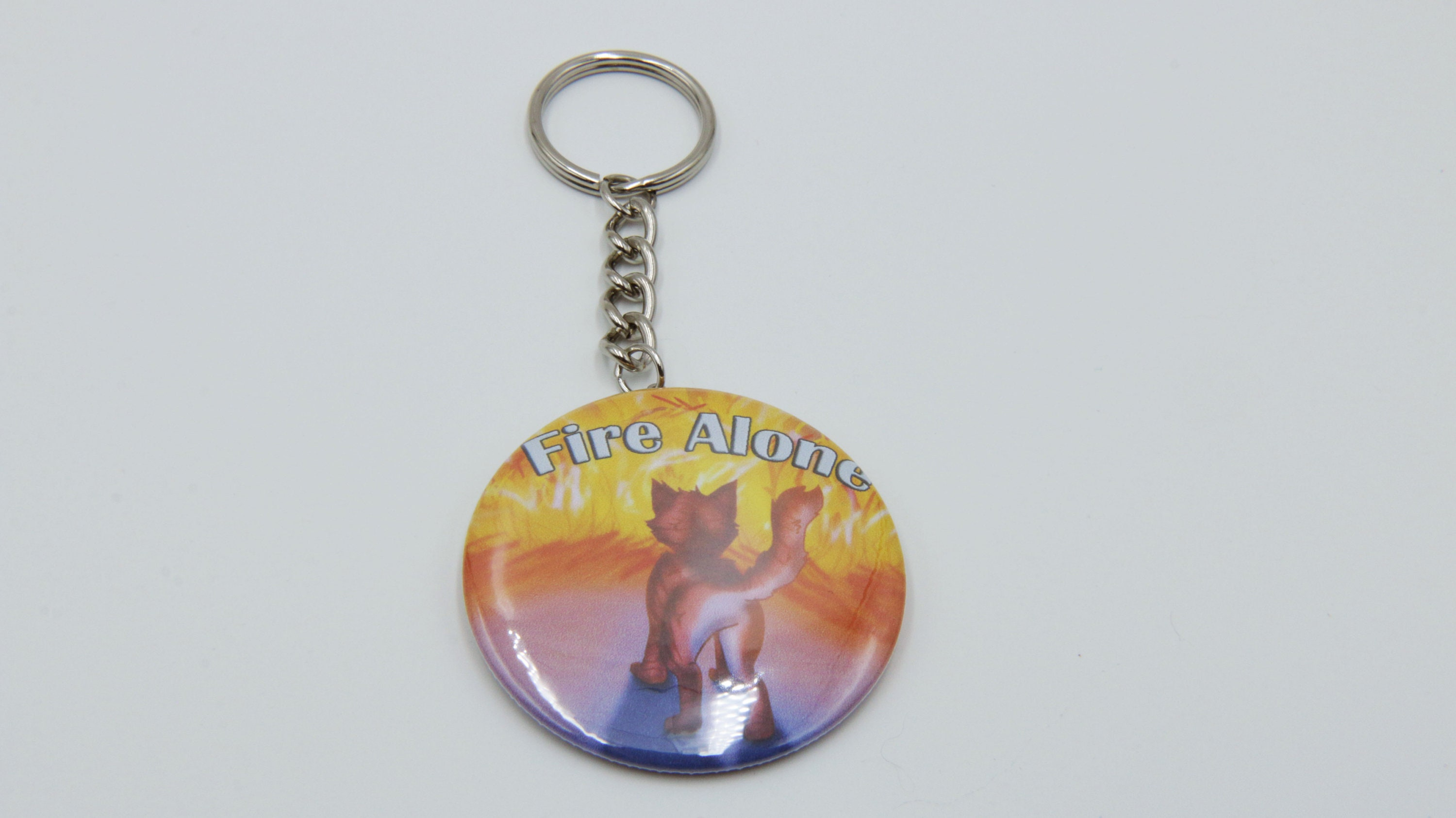 Fire Alone  Firepaw Warrior Cats 2.25 in Keychain  f9a1e4058be4
