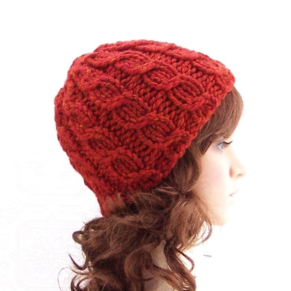 Instant download knitting hat pattern - Simple Cable Beanie pdf knitting  pattern - Winter Fashion Winter Accessories Sandy Coastal Designs 587800a23f2