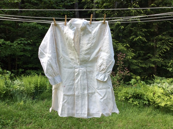 Antique French Linen Artists Smock/Shirt - image 2