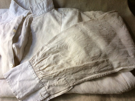 Antique French Linen Artists Smock/Shirt - image 5