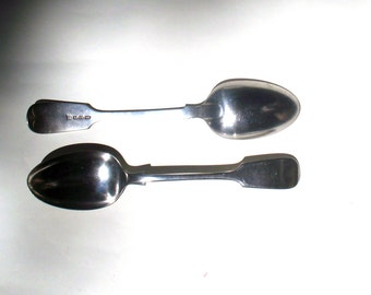 """Antique Sterling Silver Plate """"Pudding"""" Spoons"""