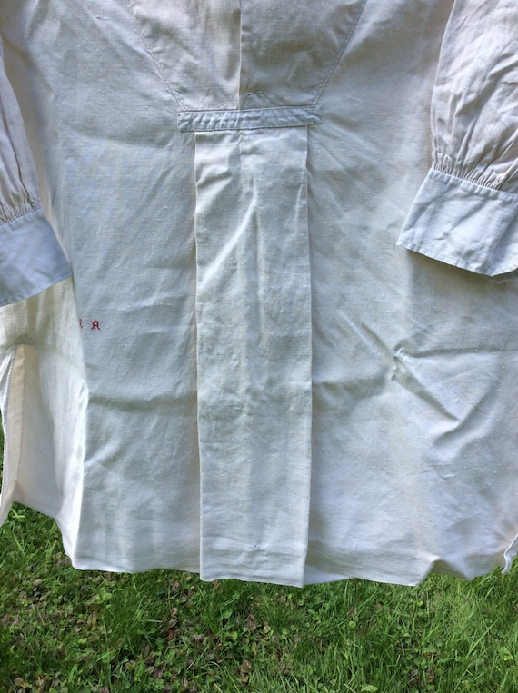 Antique French Linen Artists Smock/Shirt - image 9