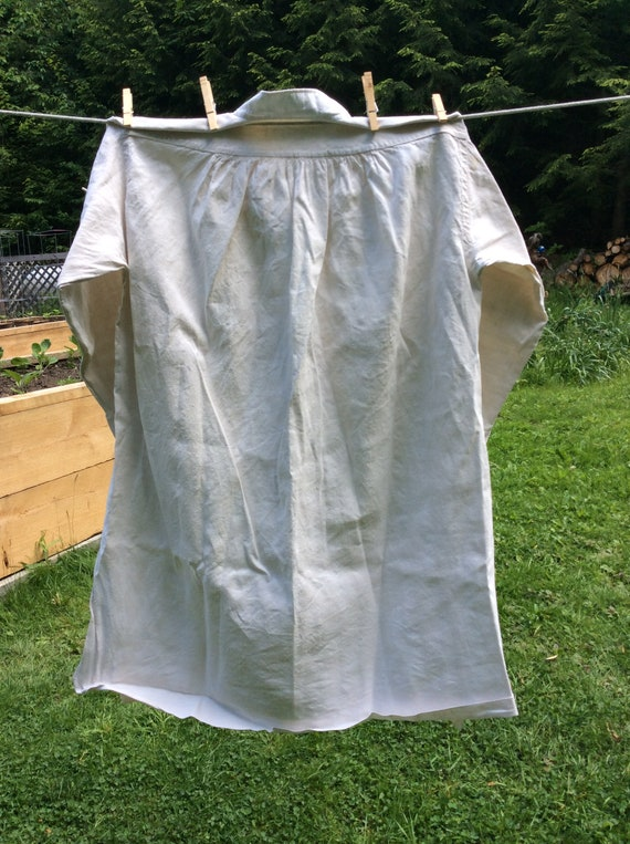 Antique French Linen Artists Smock/Shirt - image 10