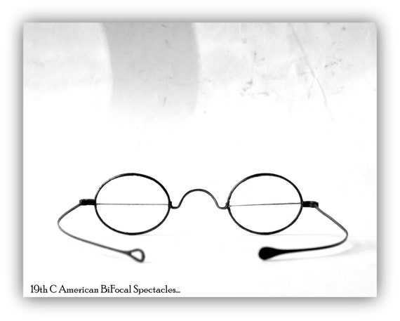 Antique Civil War Era Bi Focal Spectacles - Eyewea