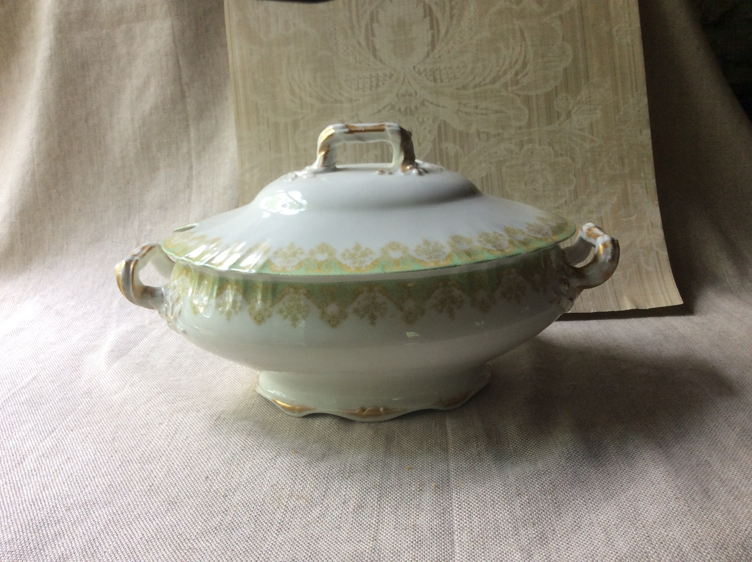 Antique French Porcelain Soup Tureen