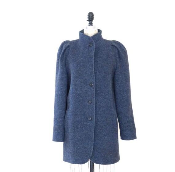 1970's-80's Vintage Wool Tweed Jacket, Wool Trench