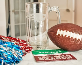 Personalized Etched Beer Mug/Groomsman Gift/Pick Your Team