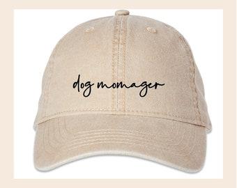 Dog Momager Soft Wash Baseball Hat