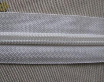 Zipper Tape White Size 8 Coil 10 yds.