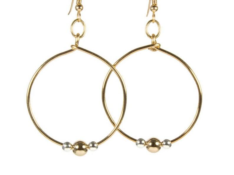 Medium .925 Sterling Silver Round Circle Hoop Earrings 30mm 1.25