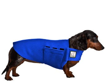 MINIATURE DACHSHUND Tummy Warmer, Fleece Dog Coat, Fleece Sweater for Dogs, Dog Shirt, Dog Clothing, Small Dog Clothes, Weiner Dog Apparel,