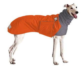 GREYHOUND Winter Dog Coat, Waterproof Dog Coat, Dog Winter Jacket, Fleece Dog Snood, Winter Clothes for Dogs, Dog Clothing, Large Dog Coat,