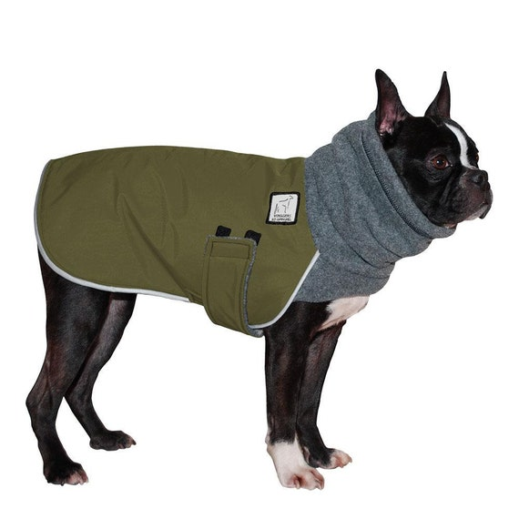 Boston Terrier Winter Dog Coat Fleece Dog Snood Fleece Etsy