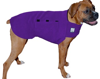 BOXER Tummy Warmer, Fleece, Sweater for Dogs, Dog Jacket, Dog Vest, Dog Shirt, Dog Sweatshirt, Dog Clothes, Dog Jammies, Boxer Dog
