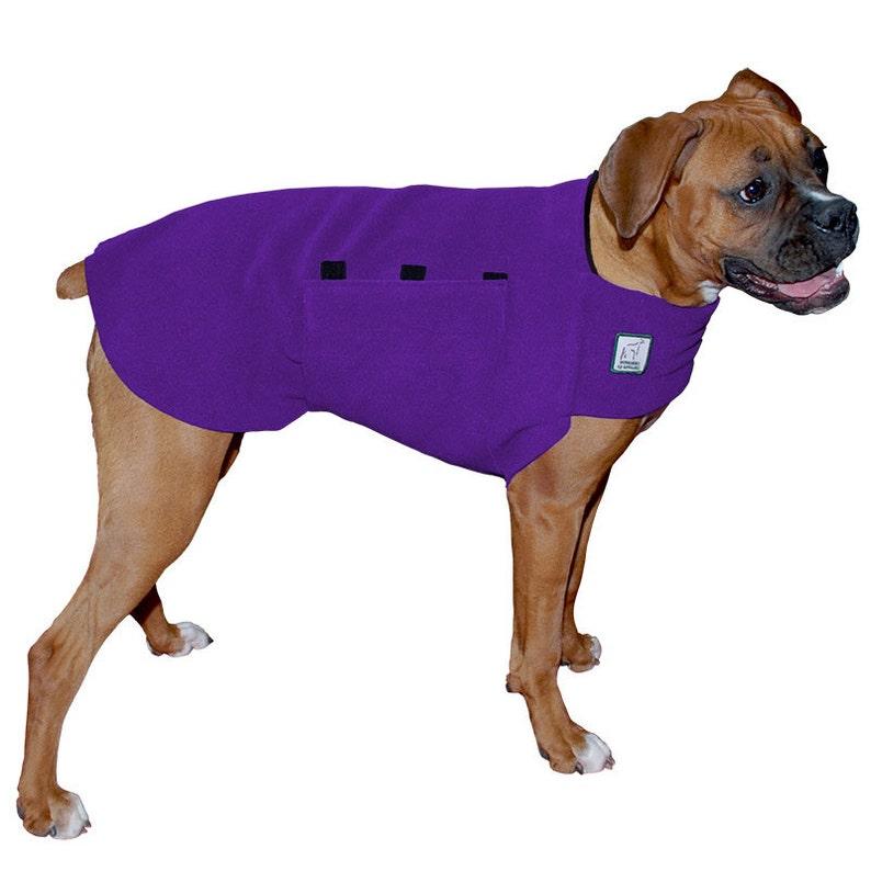 BOXER Tummy Warmer Fleece Sweater for Dogs Dog Jacket Dog Purple