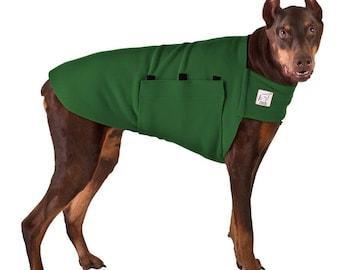 DOBERMAN PINSCHER Tummy Warmer, Dog Sweater, Fleece, Dog Shirt, Jackets for Dogs, Dog Vest, Dog Clothes, Dog Clothing