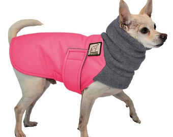 CHIHUAHUA  Winter Dog Coat, Winter Jacket, Waterproof Dog Jacket,  Dog Fleece Neck Warmer, Small Dog Clothes, Dog Clothing, Winter Clothes,