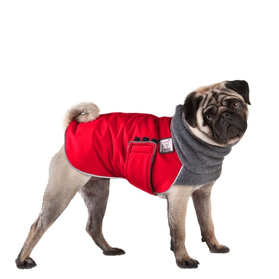 Pug Winter Dog Coat Winter Coat Dog Clothing Pug Clothes Etsy