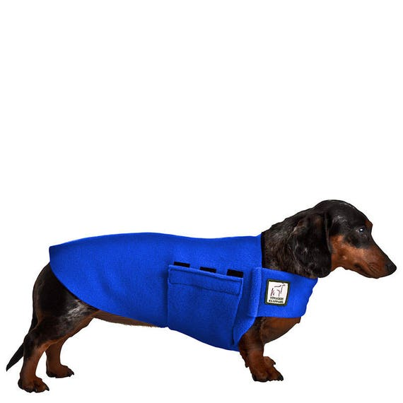 Miniature Dachshund Tummy Warmer Fleece Dog Coat Fleece Etsy