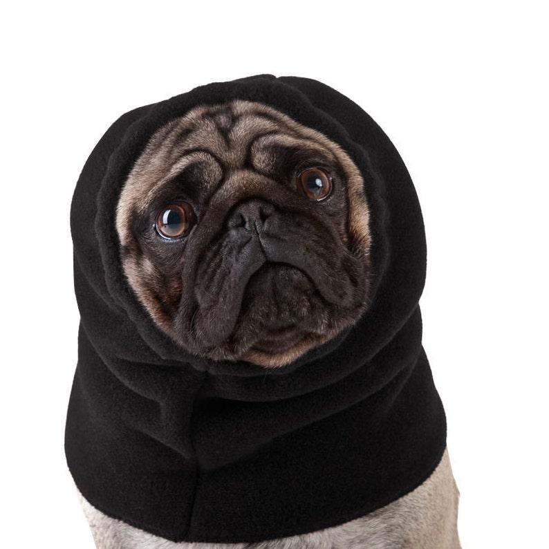 PUG Dog Hood Dog Hat Dog Snood Fleece Hood Winter Hat Dog  d00f395b032