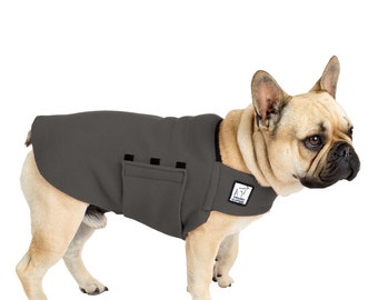 FRENCH BULLDOG Tummy Warmer, Dog Sweater, Fleece, Fleece Dog Jacket, Shirts for Dogs, Dog Vest, Dog Clothes, Dog Clothing, Jammies