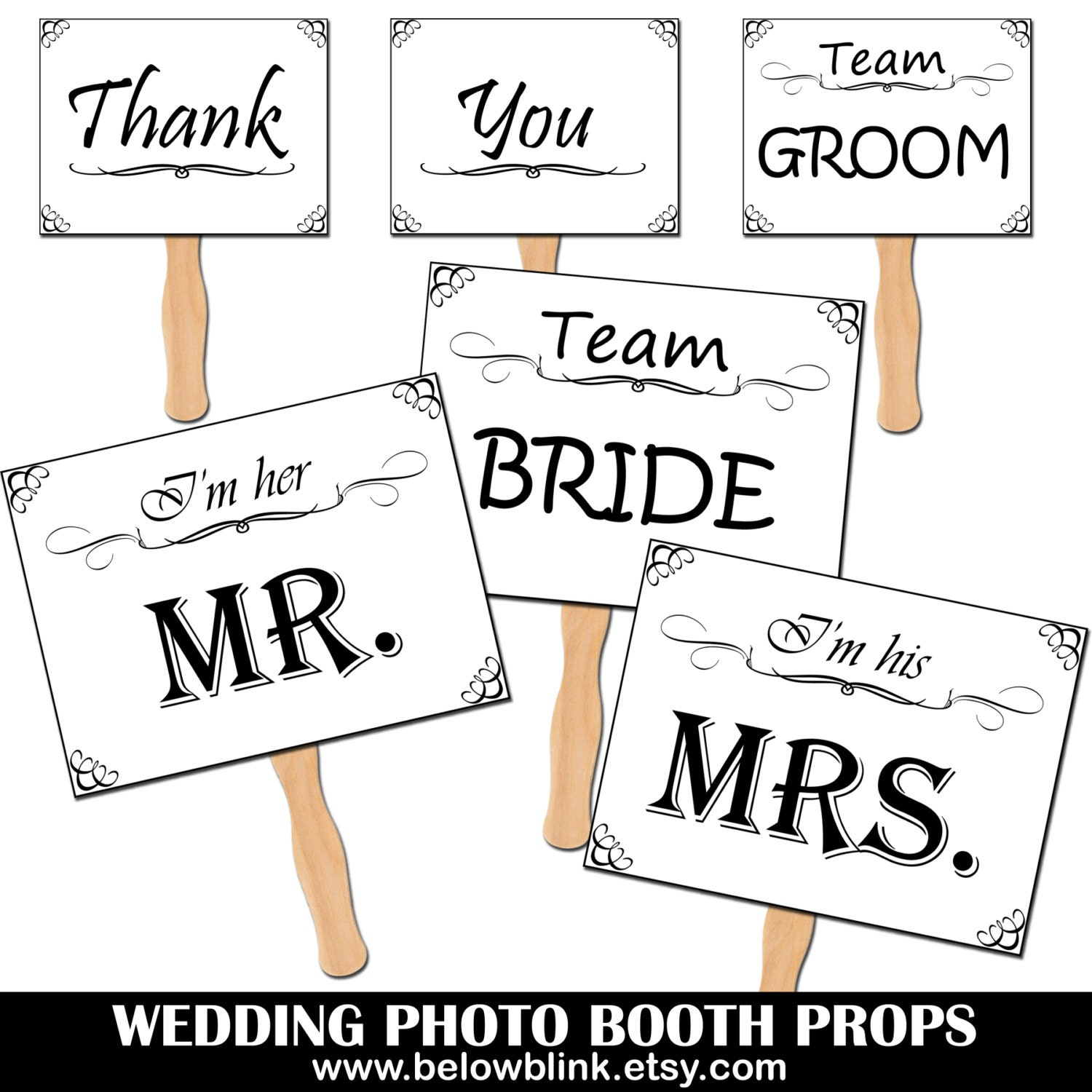 Wedding Photo Props Printable Photo Booth Props Wedding
