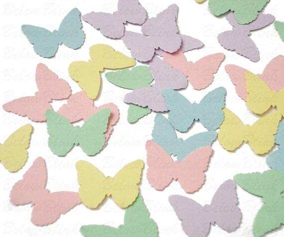 Mariage Confettis décoration de table Toppers 20 Bleu Royal reflets papillons