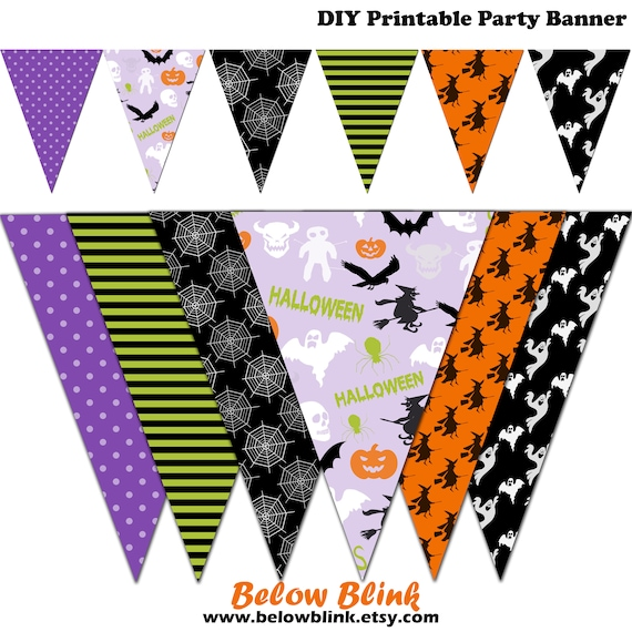 photo regarding Halloween Banner Printable identify Halloween Banner, Spooky Printable Banner, Halloween Bash