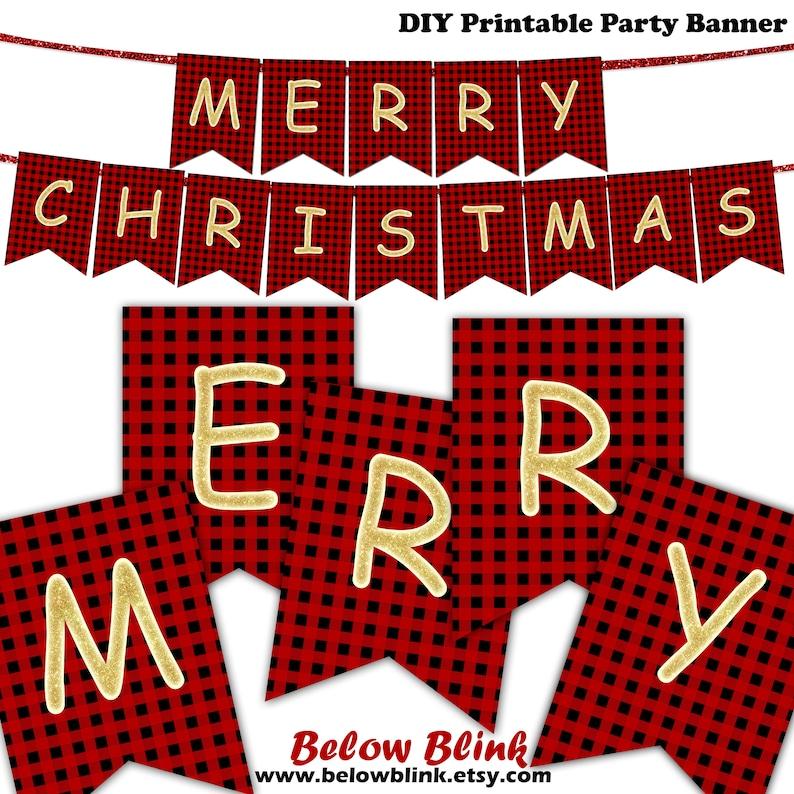 photograph relating to Christmas Banner Printable identify Purple Plaid Merry Xmas Banner, Printable Xmas Banner, Banner, Pictures Prop Banner, Gold Xmas Decor, Fast Obtain, DP662