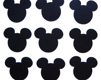 Black Mickey Mouse Confetti 50CT, Mickey Mouse Birthday Theme Party - No477