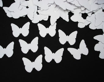 White Butterfly Confetti, Garden Party Table Decor, Fairy Party Decorations - No276