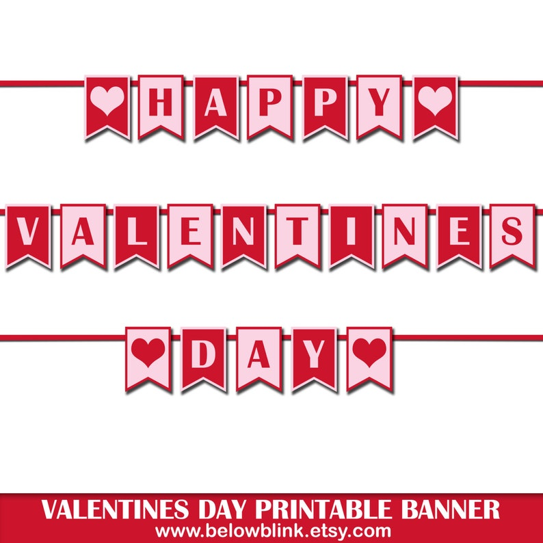 image about Happy Valentines Day Printable referred to as Joyful Valentines Working day Banner, Printable Picture Prop Banner, Valentines Occasion Decorations, Printable Banner, Valentines Working day Celebration Decor-DP422