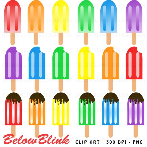 commercial use vector graphics Popsicle clipart digital clip art ice pop clipart M450 ice cream clipart