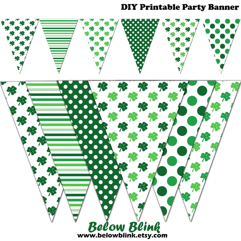 Printable Shamrock Cupcake Wrappers Irish Party Decor Instant Download St Patrick/'s Day Cupcake Wrappers DP574 Luck of the Irish