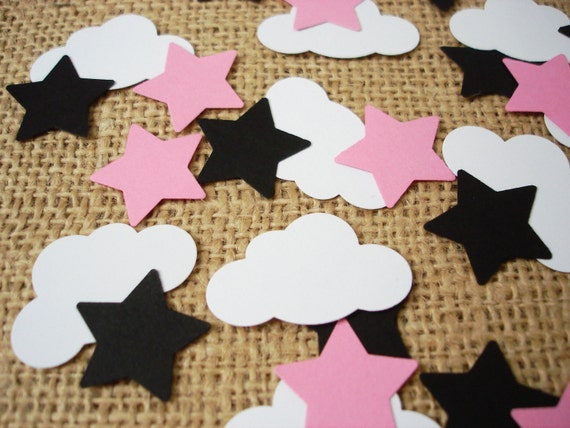 Baby bib with cut out Baby 50-piece scrapbooking embellishment party decorations card stock