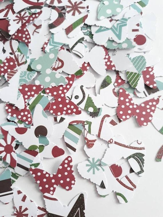 50 Paper Card BUTTERFLIES Butterfly confetti SCRAPBOOK Embellishments Crafts