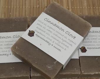 Cinnamon Clove Soap Set of Four 4 oz Bars